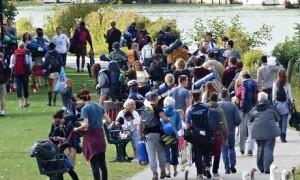 Fans arrive for the Reading Festival
