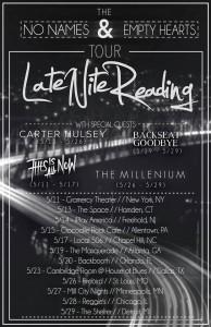 late nite reading tour poster
