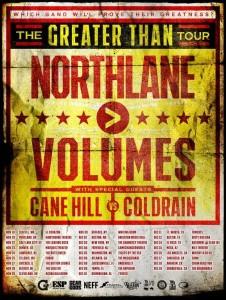 northlane volumes tour poster