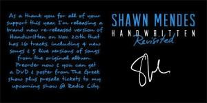 shawn mendes handwritten revisited